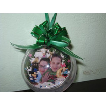 Bola De Natal Personalizadas C/ Laço