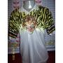 Camisa Finta Cabeça De Tigre Anos 90