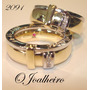 Alianças Em Ouro Diamantes, Lindas Jóias,ouro 18k