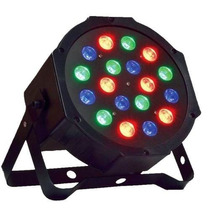 Kit Refletor Com 10 Unidades Led Par 64 Rgb 18 Leds Digital