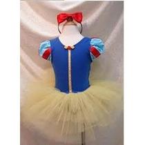 Vestido Branca De Neve Fantasia Infantil