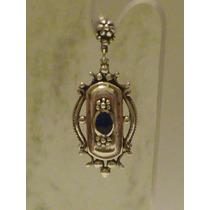 Brinco Prata 925 Indiano Com Pedra Lápis-lázuli
