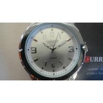 Relógio De Fundo Prata Marca Curren
