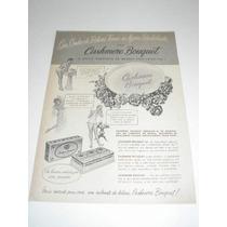 ( L - 290 ) Propaganda Antiga Sabonete Cashmere Bouquet