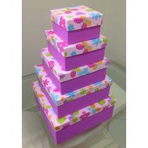 Caixas Para Presente - Kit Com 5 Tamanhos