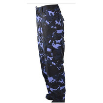 Calça Tática Camuflada Woodland Azul - Paintball/guarda