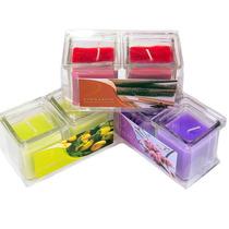 Kit Com 2 Velas Em Vidro Aromatizadas - Diversos Aromas