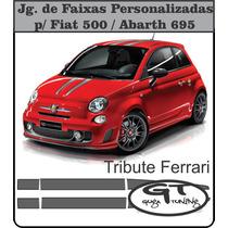 Jogo De Faixas Personalizadas P/ Fiat 500 Abarth Ferrari