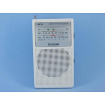 Rádio Tecsun R-218 (branco) Am/fm/tv Receiver Radio Pocket