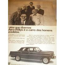 ( L - 290/ G ) Propaganda Antiga Willys Aero Willys 1967