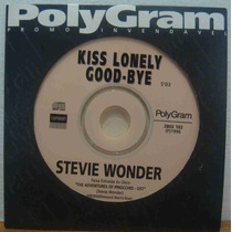 Stevie Wonder Cd Single Promo Kiss Lonely Good-bye 1996