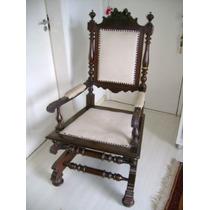 Cadeira De Balanco Antiga Jacaranda Macico Comeco Do Seculo