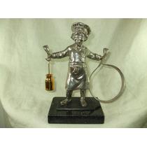 Escultura Em Bronze Estatua - Figura Infantil - Antiga