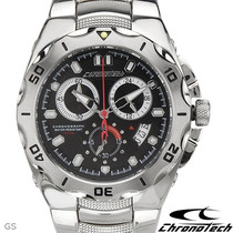 Relógio Chronotech Ct. 7922b Cronometro Skeleton Invicta
