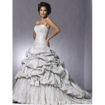 Vestido Noiva Luxo ,sofisticado Perola E Cristais (rainha )