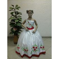 Vestido De Dama Ou Florista Com Rosas Vermelhas F101