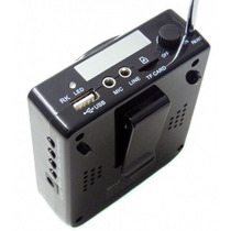Microfone Amplificador Voz Kit Professor + 01 Bateria Extra
