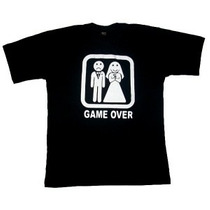 Camiseta Game Over - Camisas Engraçadas
