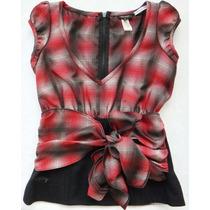 Camisa Blusa Xadrez Miss Sixty