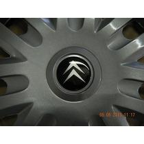 Jg Calotas Aro 14 Citroen C3 + Emblemas Resinados