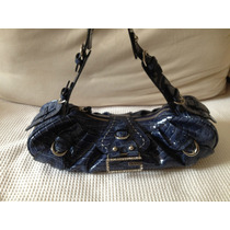 Bolsa Couro Guess Azul Royal - Original