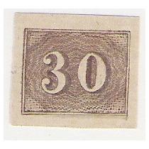 Brasil, Reimpressão, Papel Cartão, Tipo Re-19 (catálogo Rhm)