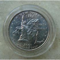 9632 Eua Quarter Dollar 2001, Acrilico Fc, New York
