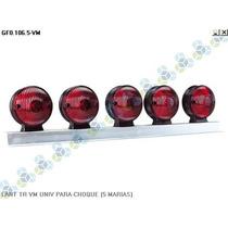 Lanterna Traseira Vermelha Universal Para-choque (5 Marias)