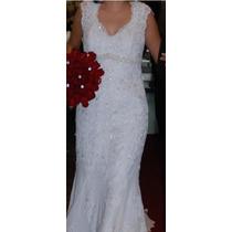 Vestido De Noiva Sereia Com Renda Francesa. Veja Os Brindes!