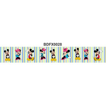 Adesivo Bdfx0028 Mickey E Minnie Border Faixa Decorativa