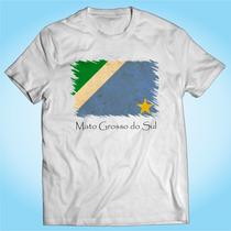Camisa Mato Grosso Do Sul Bandeira - Brasil - Personalizada