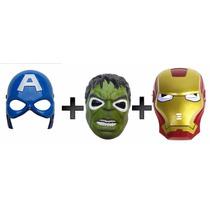 3 Mascaras Homem De Ferro + Capitão America + Hulk