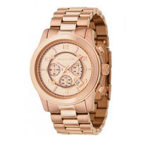 Relógio Michael Kors Mk8096 Rose Gold Oversized