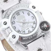Relógio Unissex Piratas Do Caribe. Lindo Relógio Branco.
