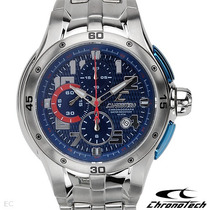 Relógio Chronotech Ct.7963 Azul Cronometro Skeleton Invicta