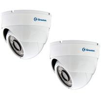 Kit 2 Câmeras Infra Dome 2,8mm Greatek 20mt Ir Cut Excelente