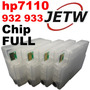 Kit Cartucho Recarregável Hp 932 933 7110 Chip Full Bulk-ink