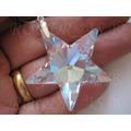 Colar Pingente Estrela Cristal Swarovski 4,0 Cm Em Prata 925
