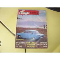 Revista 4 Rodas -- Ford Cortina, Propagandas De Época --1966