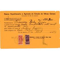 Documento Antigo De 1937 Com Selos