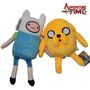 2 Pelúcias Adventure Time - Finn E Jake - 30cm - Cartoon Net