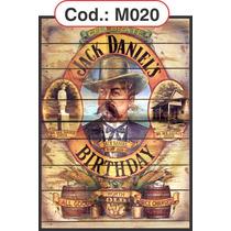 Quadros Decorativos Em Madeira Estilo Rústico Jack Daniels
