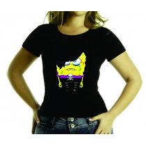 Camiseta Ou Baby Look Bob Esponja Emo, Adulto E Infantil