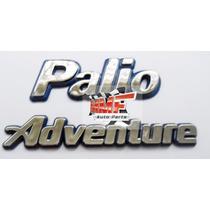 Emblema Palio Adventure /fundo Azul - Mmf Auto Parts.