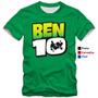 Camisetas Infantis Ben 10 Heróis Personagens Camisas Ben10