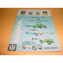 Folder Raro Willys Rural Picape Pick Up Anos 60 Bardahl