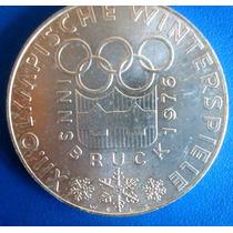 Austria-moeda De Prata De 100 Schilling-1976-xii Olimpiada
