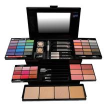 Maleta Maquiagem Jasmyne 3d 30 Sombras 6 Blushes V023+brinde