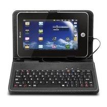 Capa Com Teclado Tablet 7 Polegadas + Caneta Touch