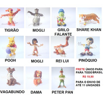 Tigrão Peter Pan Grilo Rei Lui Share Khan Pooh Disney Toy